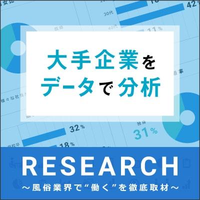 RESEARCH 大手企業をデータで分析~風俗業界で「働く」を徹底取材~
